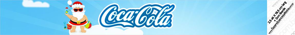 Rotulo Coca cola Natal Tropical