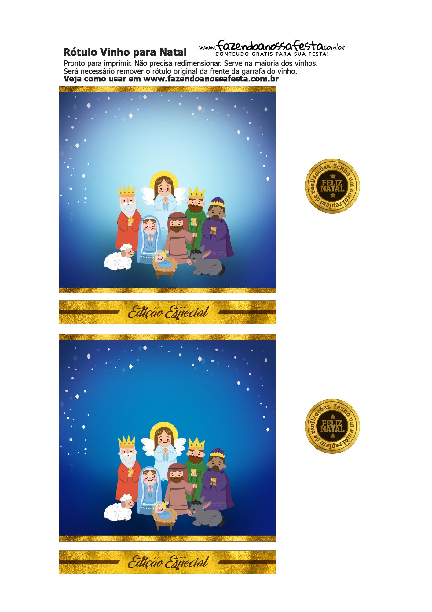 Rótulo de Vinho para o Natal 3