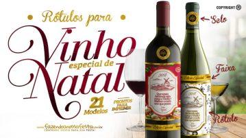 Rótulo de Vinho para o Natal