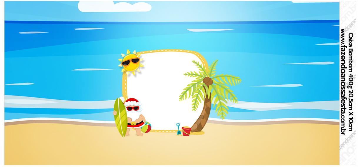 Rotulo para Caixa bombom Natal Tropical