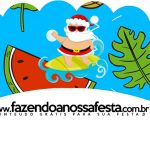 Saias Wrappers para Cupcakes 2 Natal Tropical