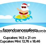 Saias Wrappers para Cupcakes Natal Tropical