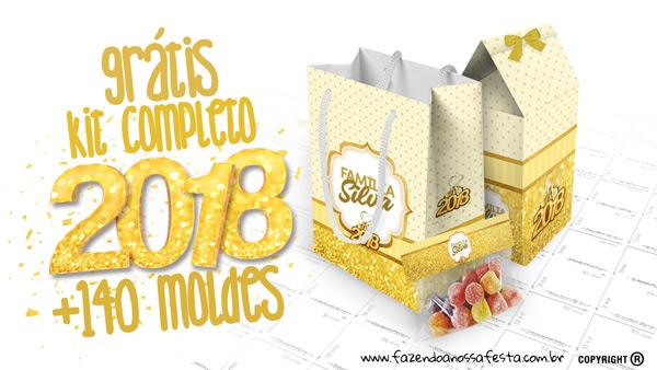 Ano Novo 2018 Kit Festa Gratis
