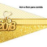 Bandeirinha Sanduiche 1 Ano Novo 2018 kit festa