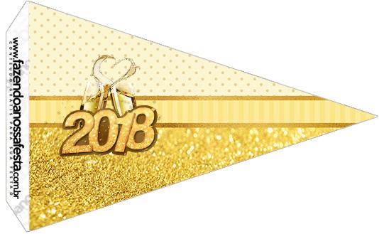 Bandeirinha Sanduiche 2 Ano Novo 2018