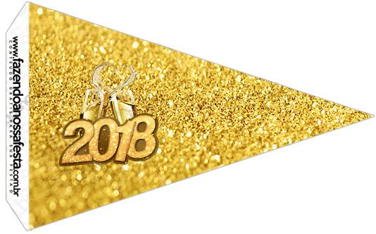 Bandeirinha Sanduiche 3 Ano Novo 2018