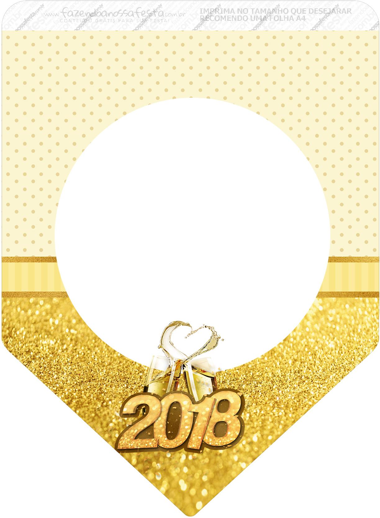 Bandeirinha Varalzinho 3 Ano Novo 2018
