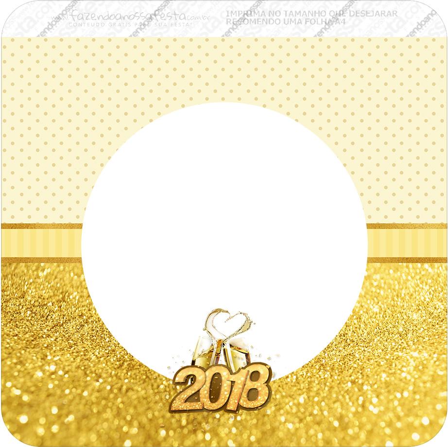Bandeirinha Varalzinho Quadrada Ano Novo 2018