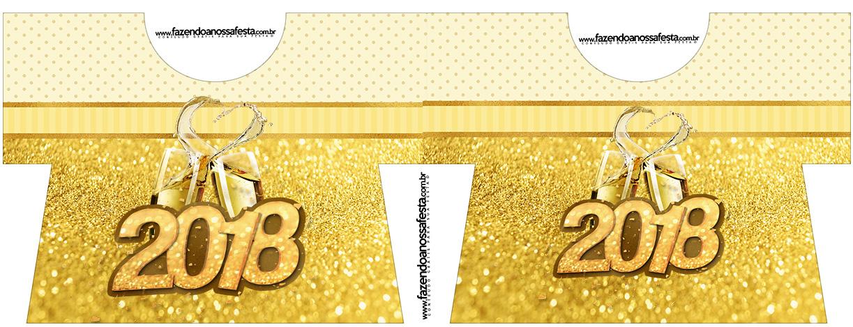 Caixa Camisa Ano Novo 2018 kit festa