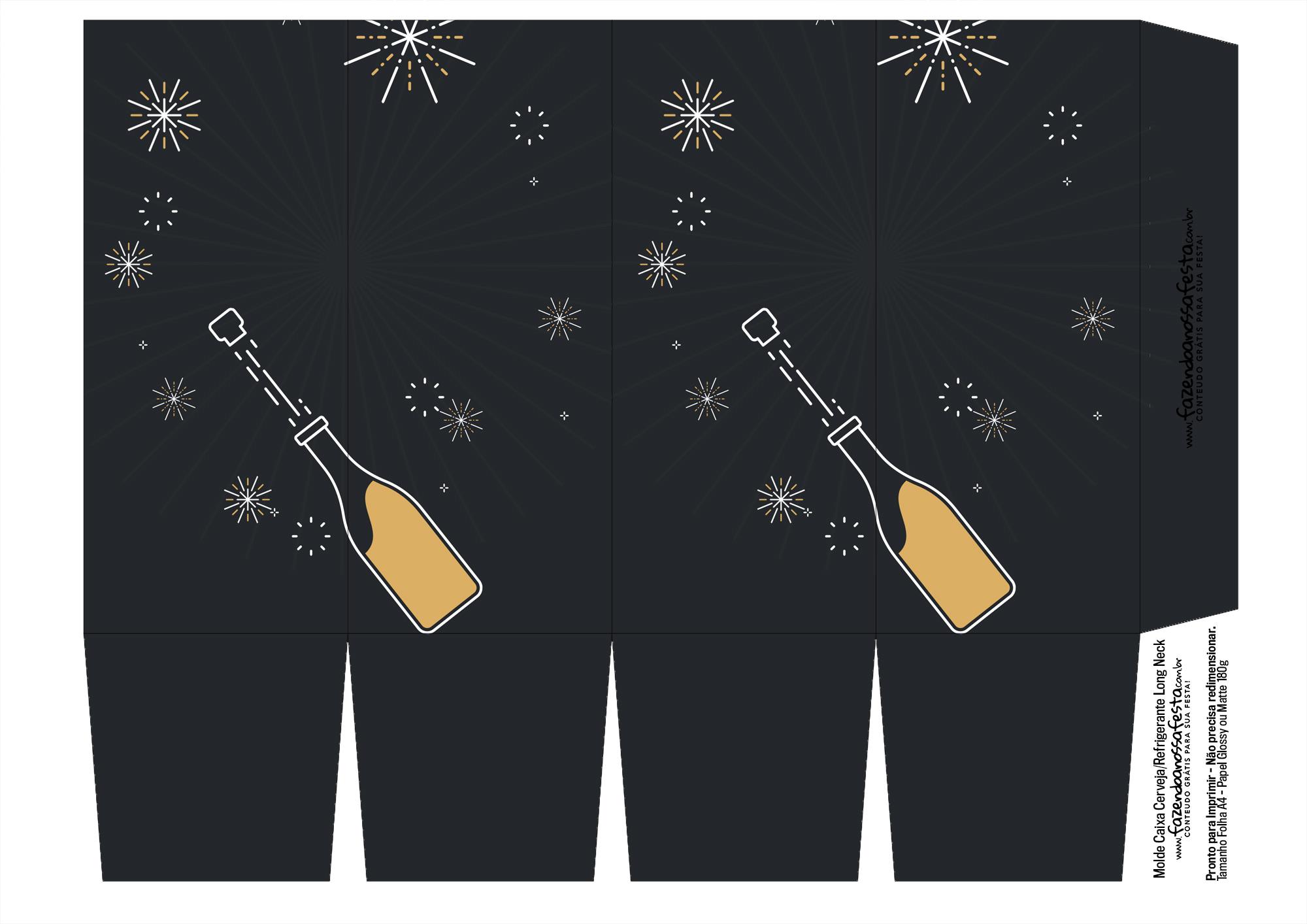 Caixa para Cerveja Long Neck de Ano Novo 1-2