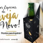Caixa Cerveja Long Neck para Ano Novo Grátis para Imprimir