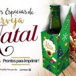 Caixa Cerveja Long Neck para Natal Grátis para Imprimir e Personalizar