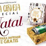 Caixa Cerveja para Natal Vários Modelos Grátis para Imprimir
