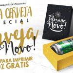 Caixa Cerveja para Ano Novo Grátis para Personalizar e Imprimir