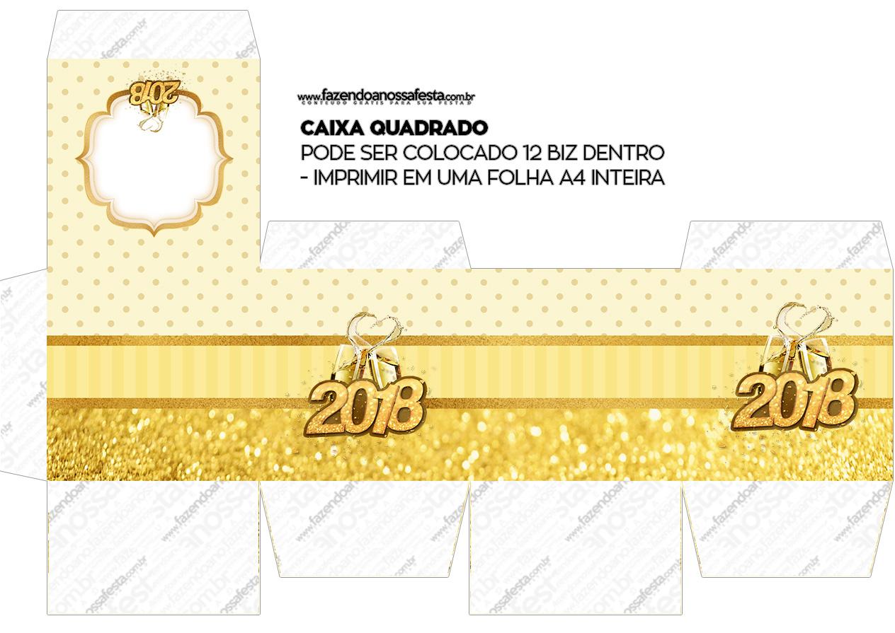 Caixa Cubo ou Bis Ano Novo 2018
