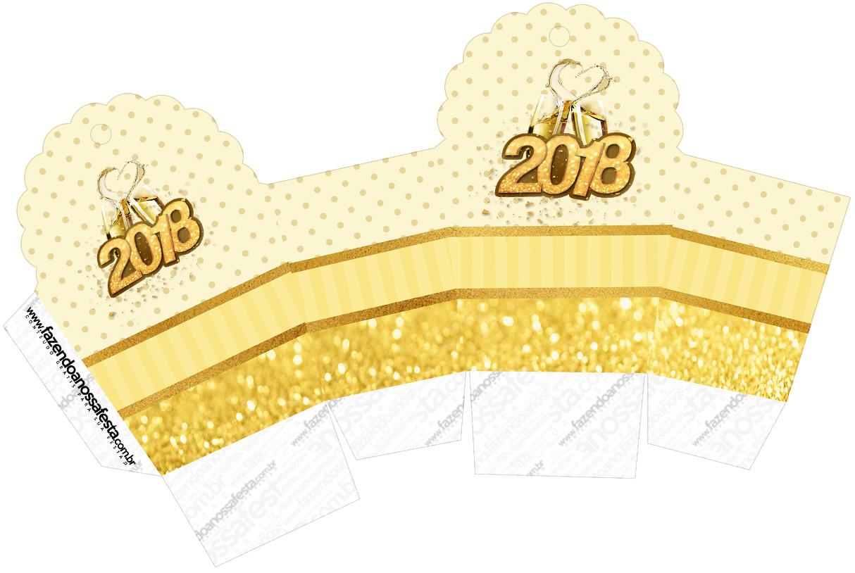 Caixa Cupcake Ano Novo 2018