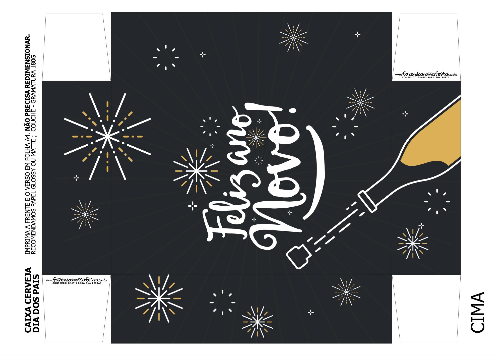 Caixa Lata Cerveja para Ano Novo 3-3