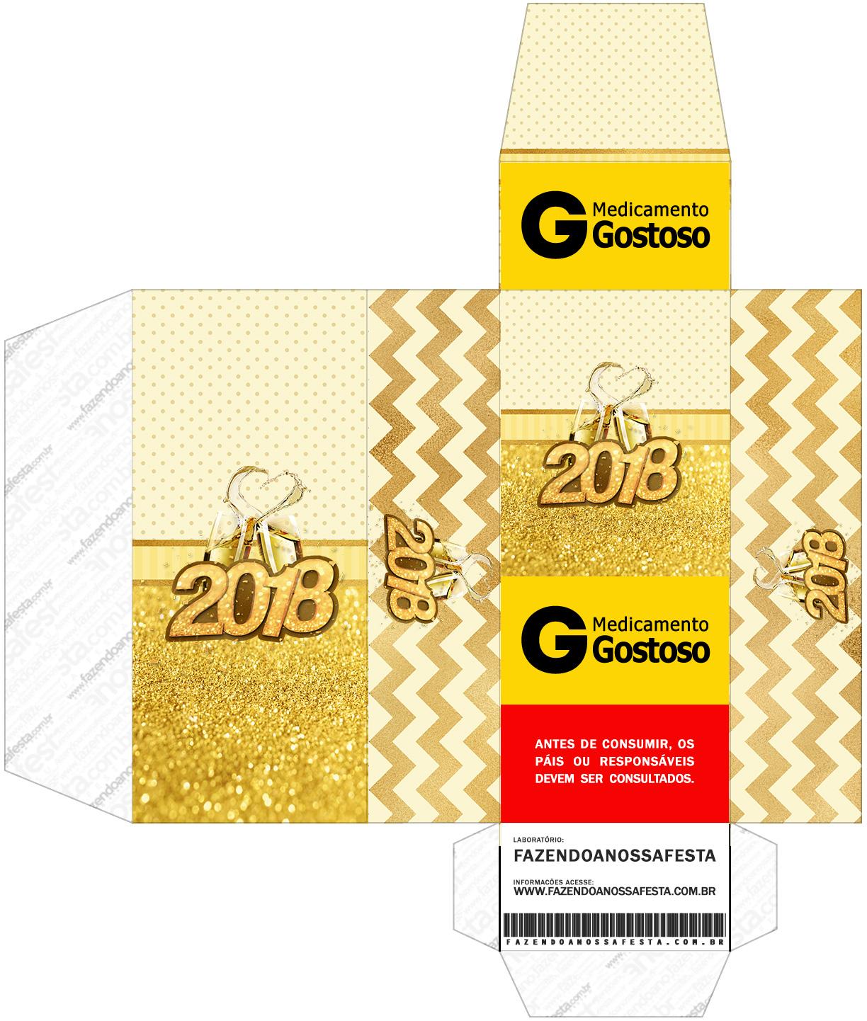Caixa Remedio Ano Novo 2018