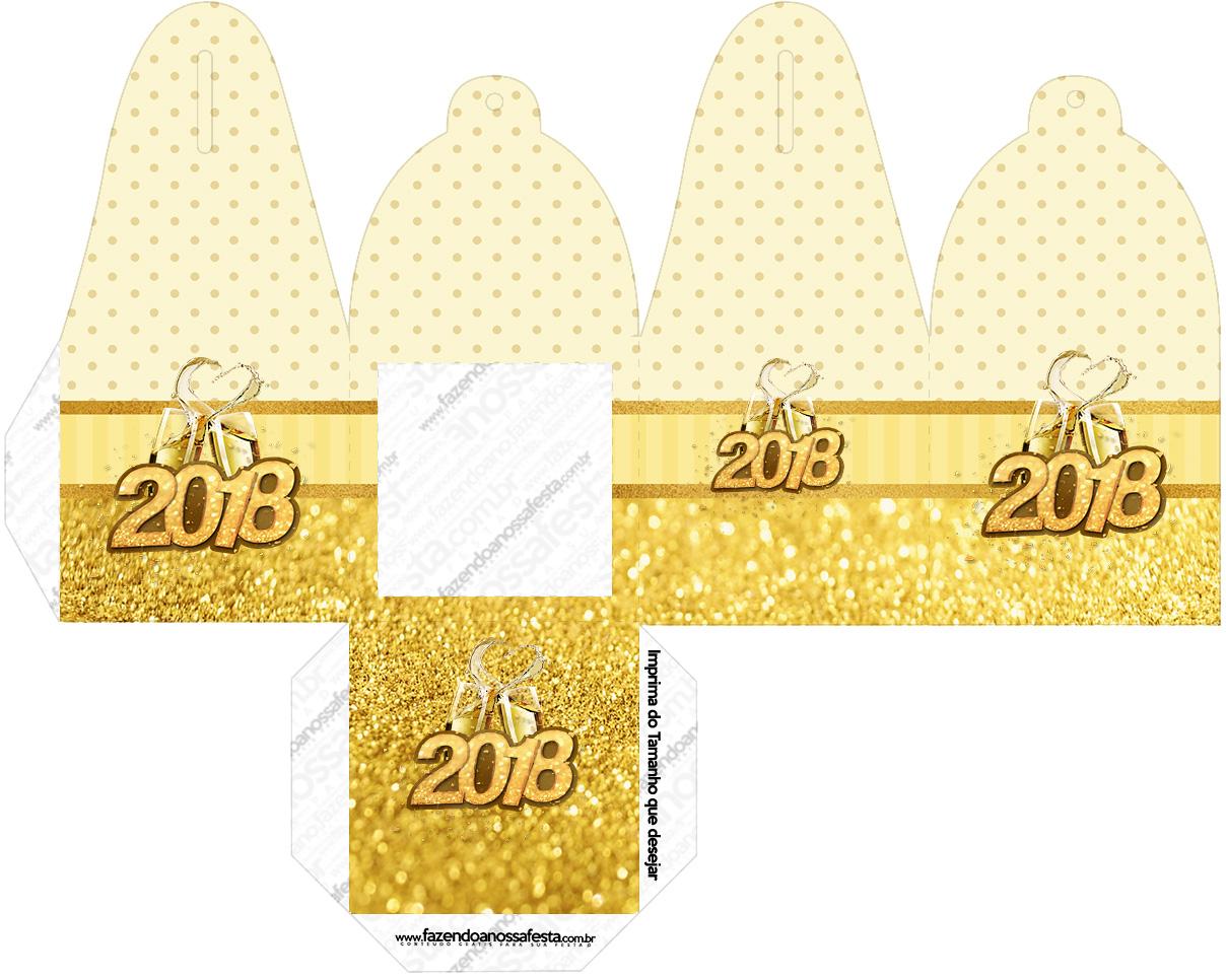 Caixa com Foto Ano Novo 2018