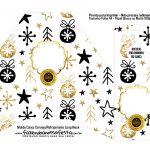 Caixa para Cerveja Long Neck de Natal Branco e dourado 1