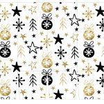 Caixa para Cerveja Long Neck de Natal Branco e dourado 2
