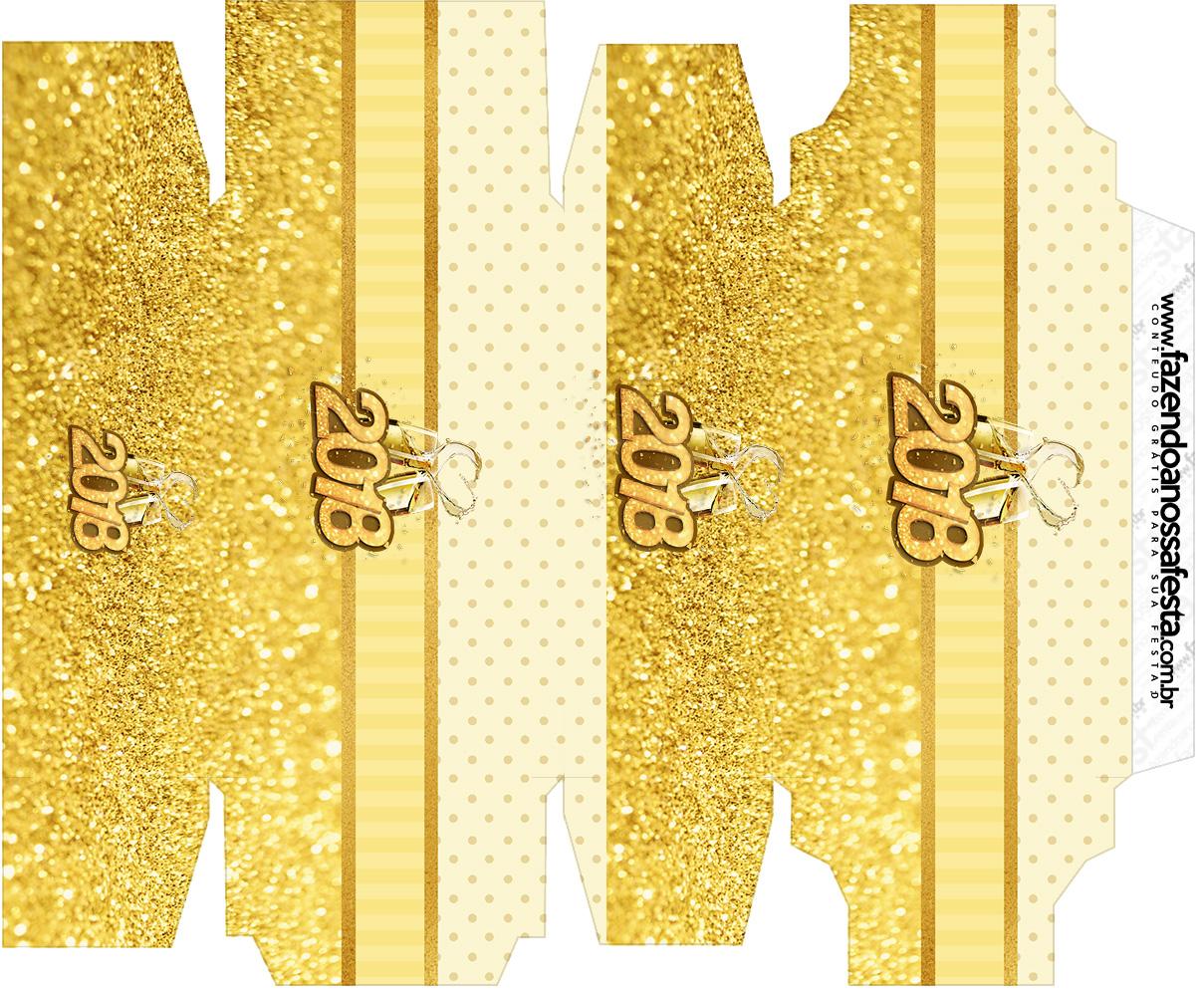 Caixa sabonete Ano Novo 2018