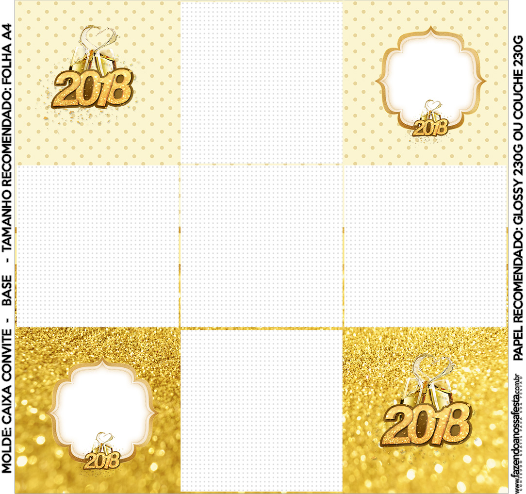 Convite Caixa Fundo Ano Novo 2018