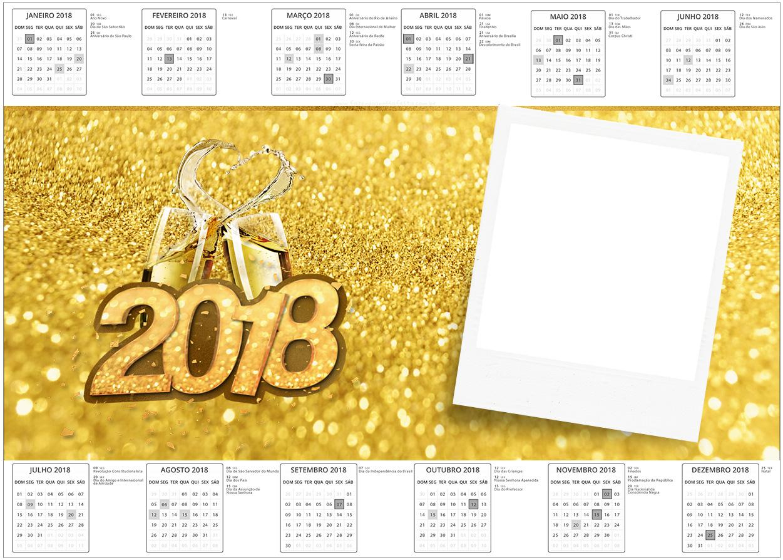 Convite Calendario 2017 Ano Novo 2018