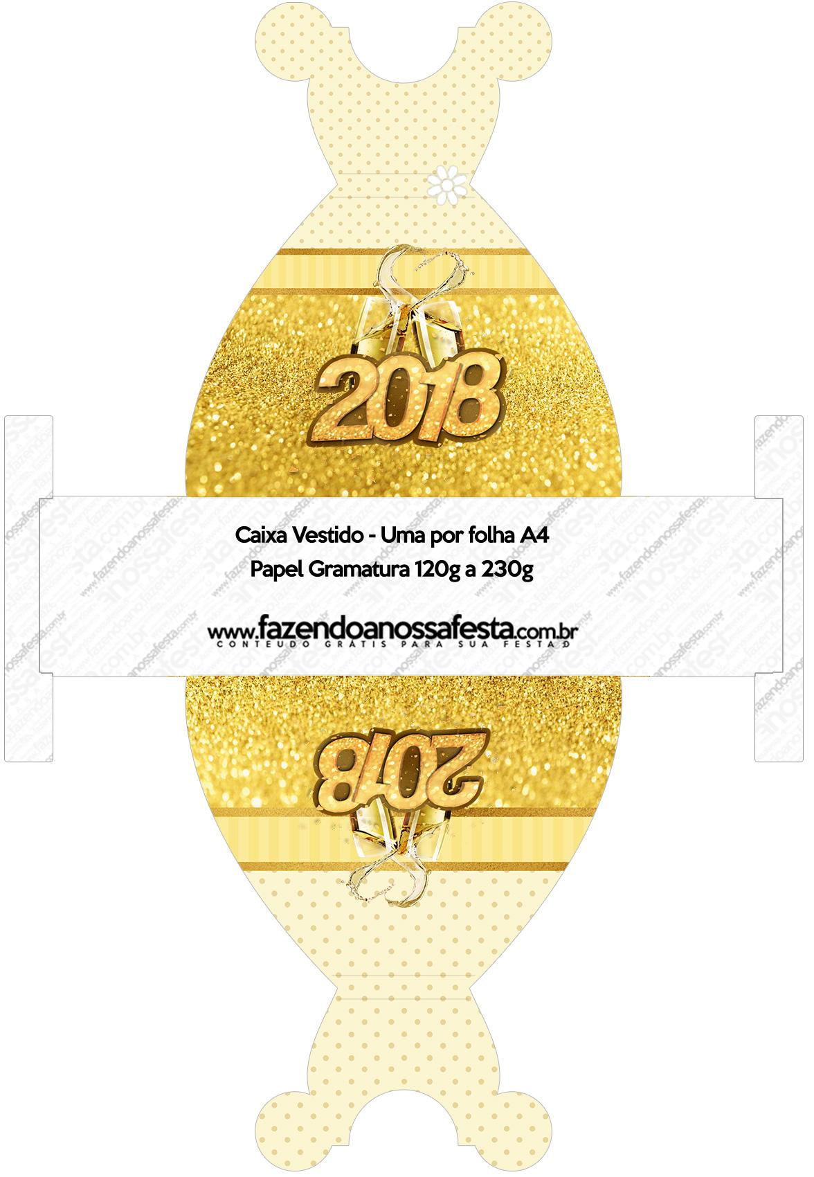 Convite Vestido 83 Ano Novo 2018