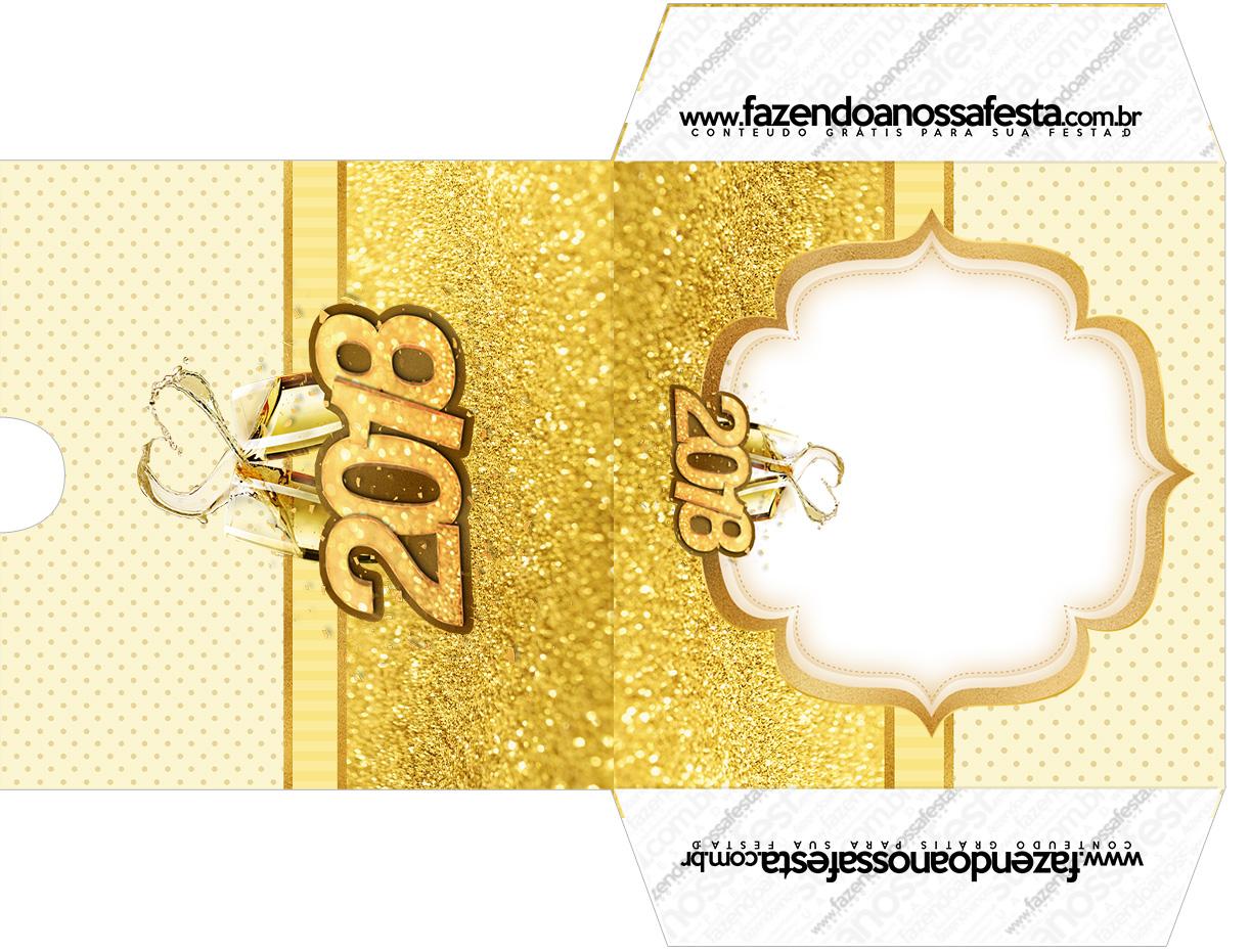Envelope CD DVD Ano Novo 2018 kit festa