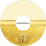 Etiqueta CD DVD Ano Novo 2018 Kit Festa