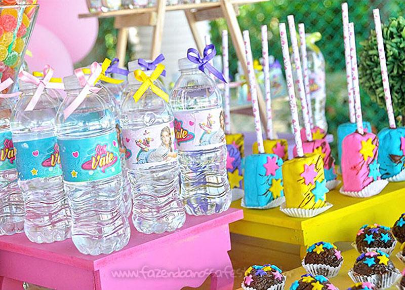 Garrafinha de Agua Festa Soy Luna da Valentina