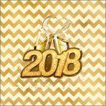Molde Caixa de Acrilico Ano Novo 2018 Kit Festa 2