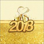 Caixa de Acrilico Ano Novo 2018 Kit Festa