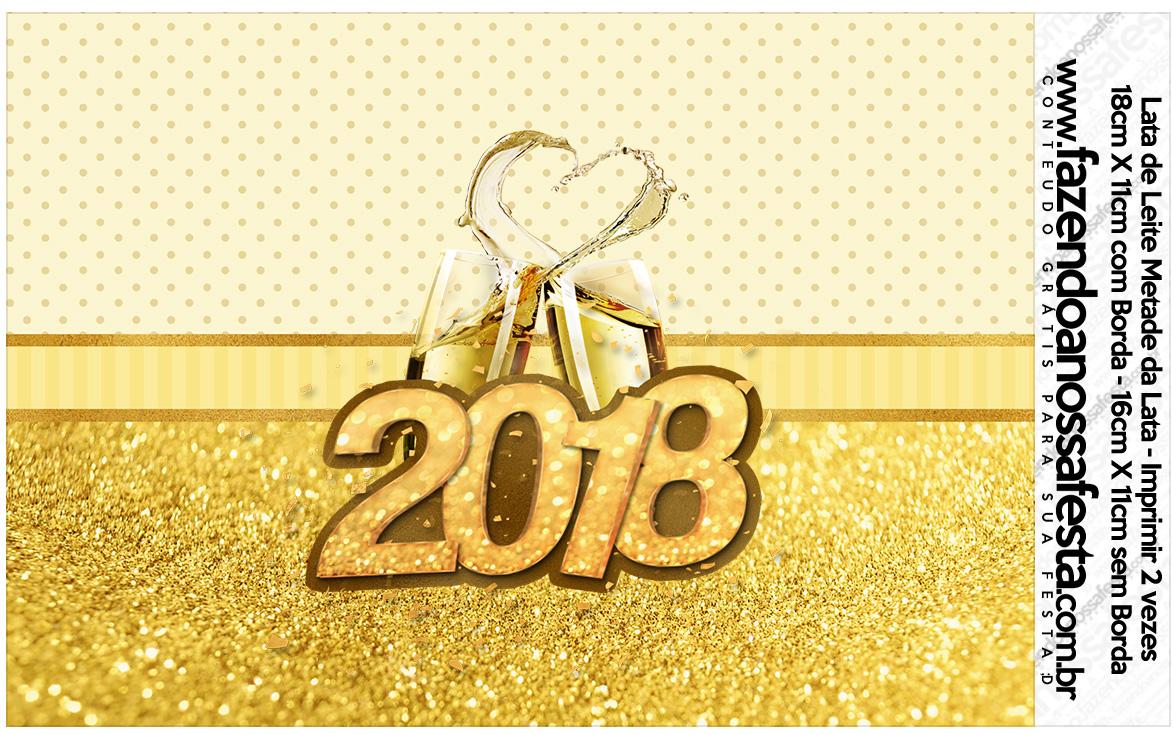 Lata de leite Ano Novo 2018