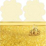 Marcador de Paginas Ano Novo 2018 Kit Festa