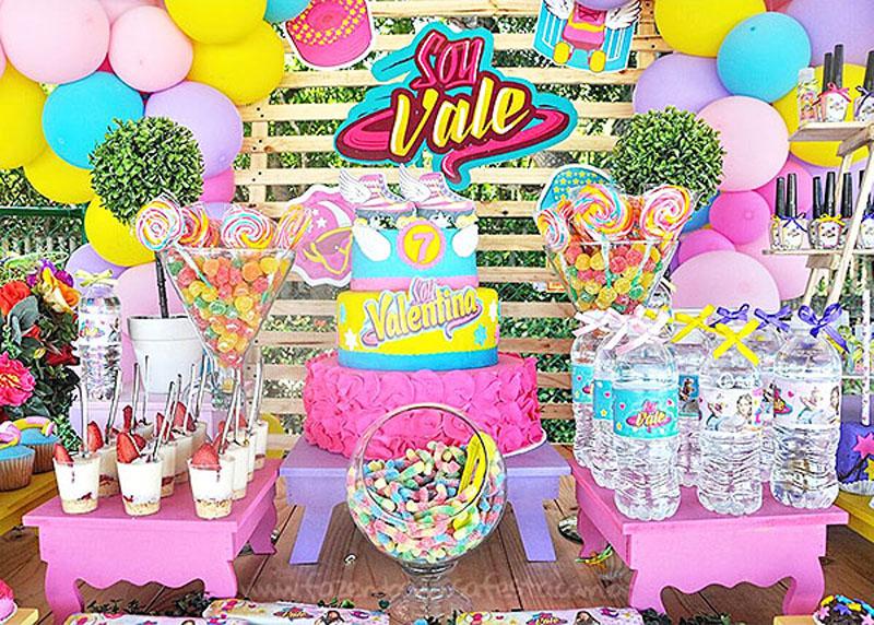 Mesa bolo Festa Infantil Soy Luna da Valentina