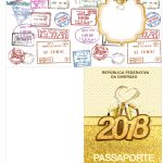 Molde Passaporte Ano Novo 2018