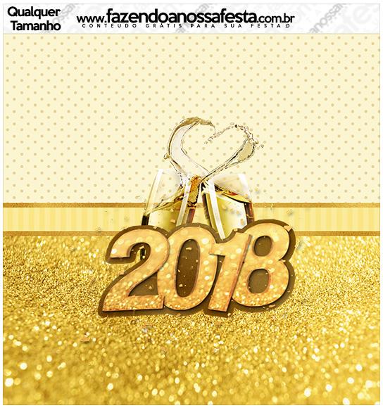 Molde Quadrado Ano Novo 2018