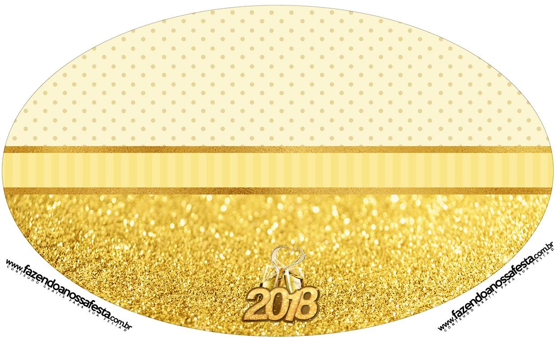 Placa Elipse Ano Novo 2018
