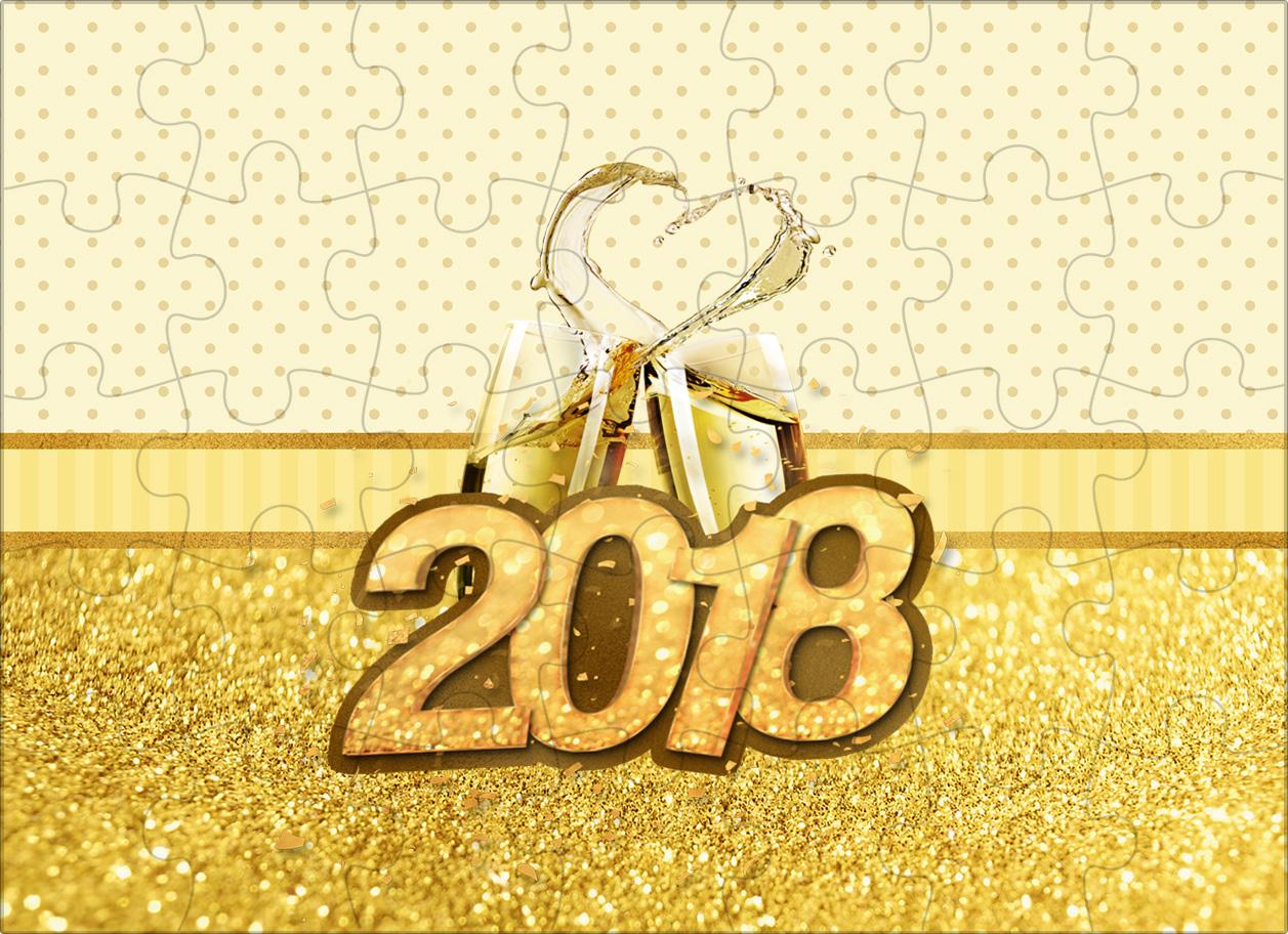 Quebra cabeca Ano Novo 2018 Kit Festa