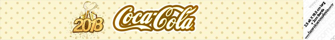 Rotulo Coca cola Ano Novo 2018