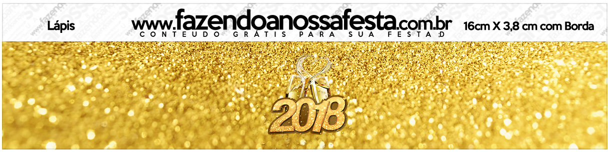 Rotulo Lapis Ano Novo 2018