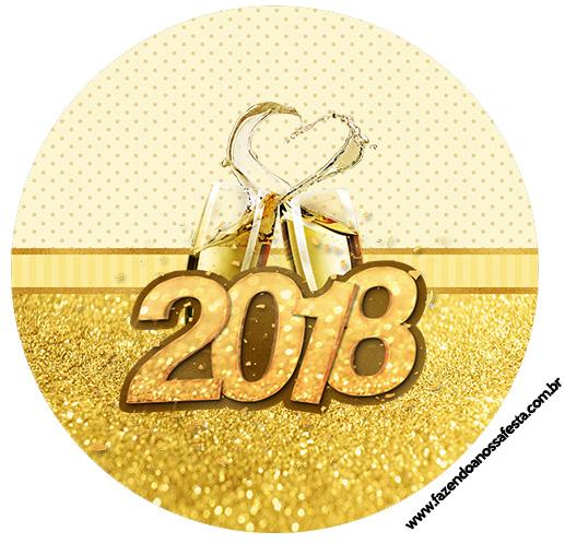 Rotulo Latinhas, Toppers e tubete Ano Novo 2018