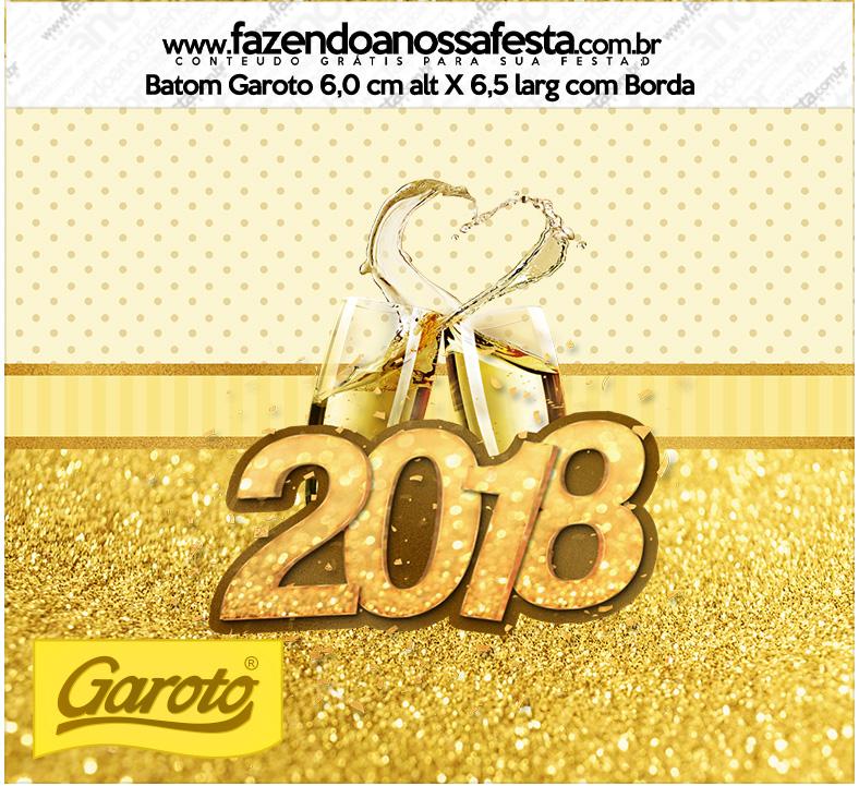 Rotulo Mini Baton Garoto Ano Novo 2018 Kit Festa