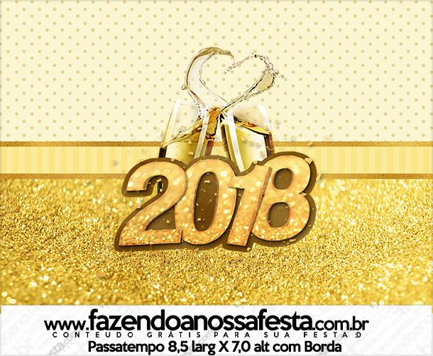 Rotulo Passatempo Ano Novo 2018