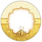 Rotulo Personalizado para latinha e toppers Ano Novo 2018