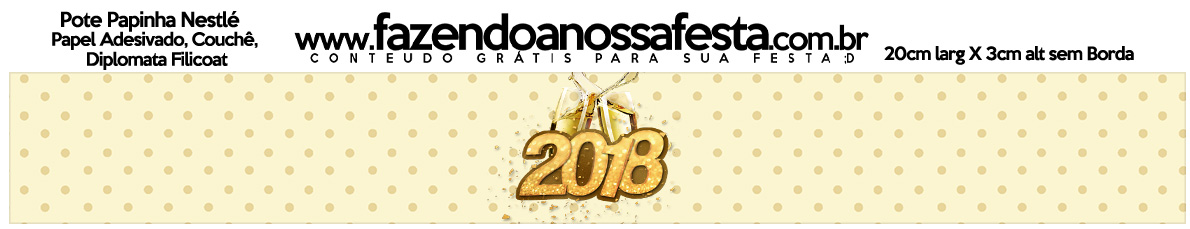 Rotulo Pote Papinha Nestle Ano Novo 2018