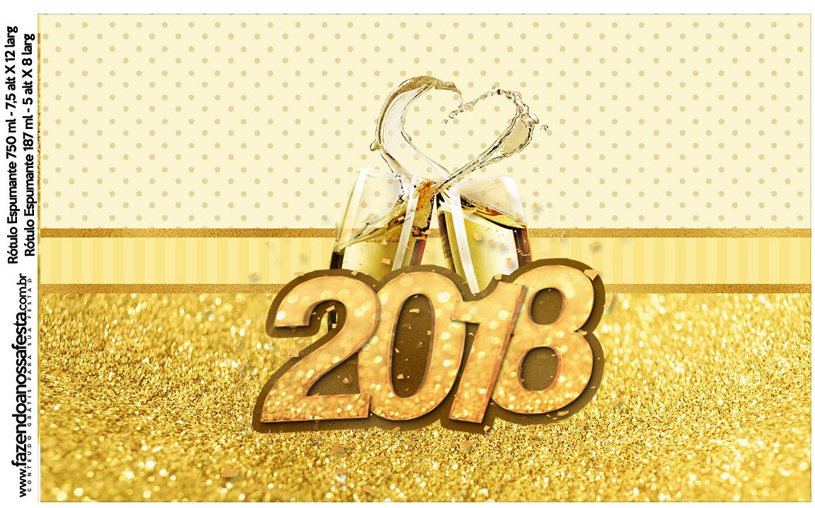 Rotulo Vinho e Espumante Ano Novo 2018