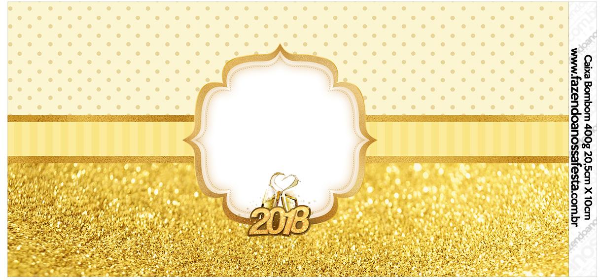 Rotulo para Caixa bombom Ano Novo 2018